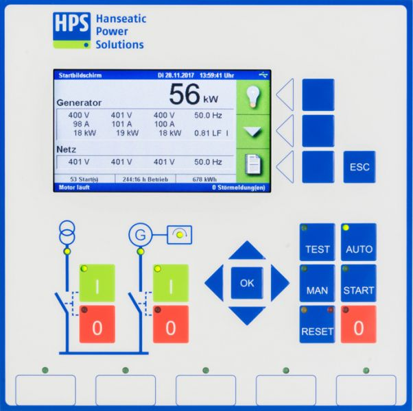 Display and control unit HPS KOP2